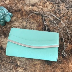 Pretty Turquoise clutch-used once